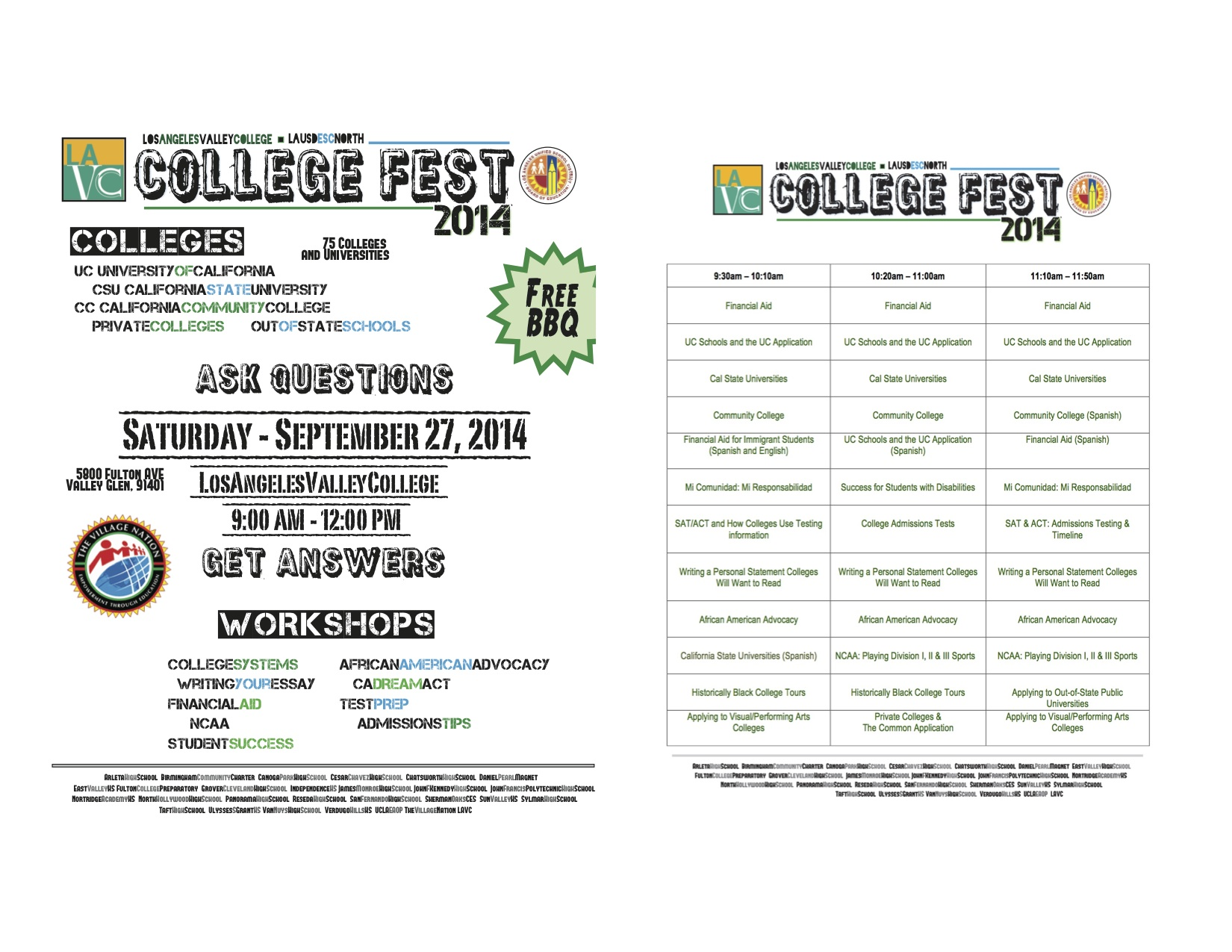 LA Valley College Fest both
